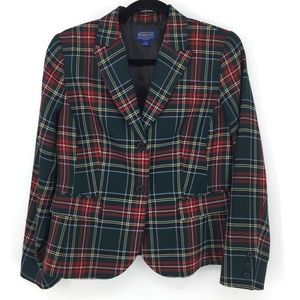 PENDLETON BUFFALO PLAID BLAZER JACKETS PETITES 8